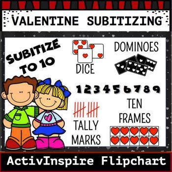 Valentine Subitizing 0-10 Activinspire Flipchart