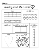 Valentine Subsitizing Numbers 1-10