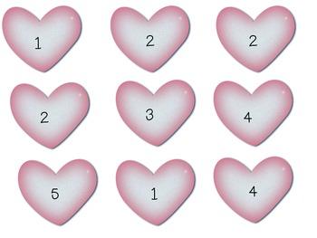 Valentine Subtraction Memory Level 1