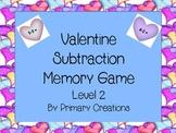 Valentine Subtraction Memory Level 2