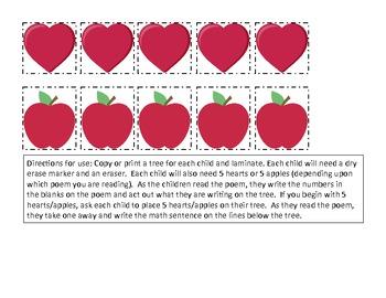 Valentine Subtraction Poem