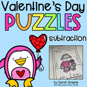 Valentine Subtraction Puzzles!