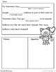 Valentine Subtraction Story Problem Mad Libs