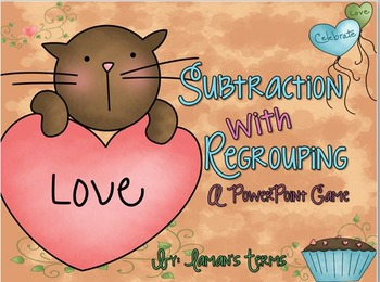 Subtraction with Regrouping PowerPoint Game
