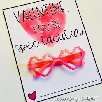 Valentine Sunglasses Gift Tags