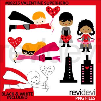 Valentine Superhero Clip Art