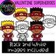 Valentine Superhero Kids {Valentine Clipart}