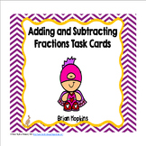 Valentine Superheroes Adding and Subtracting Fractions Task Cards