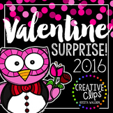 Valentine Surprise 2016 {Creative Clips Digital Clipart}