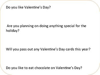 Valentine Social Skills Middle and High School