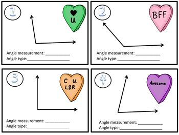 Valentine Sweet Angles! (geometry angles)