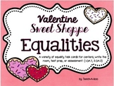 Valentine Sweet Shop Equality Task Cards
