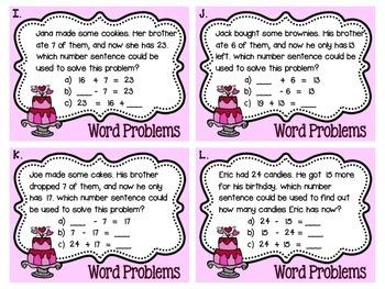Valentine's Day Math Task Card Bundle