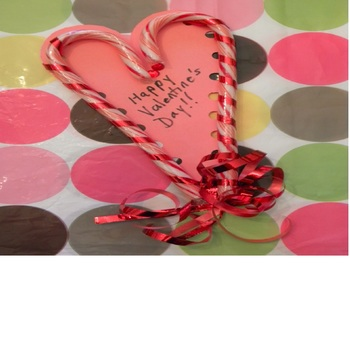 Valentine Sweet Treat Cards Made from Left Over Christmas Candy Canes