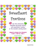 Valentine Sweetheart Fractions activity, aligned to CCS, g