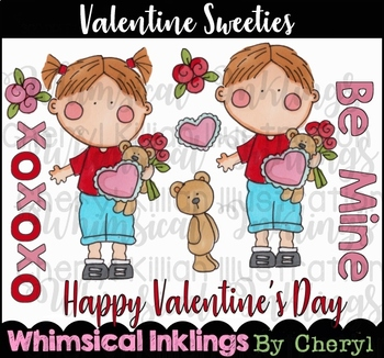 Valentine Sweeties Clipart Collection