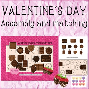 VALENTINE'S DAY Sweets Matching Tasks