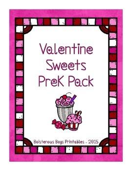 Valentine Sweets PreK Printable Learning Pack