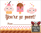 Valentine Sweets, Valentine's Day Cards, Print Your Own