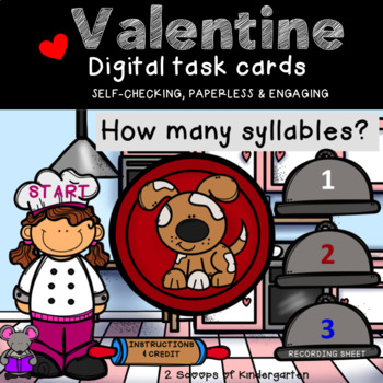 Valentine Syllable Power Point Game with Audio