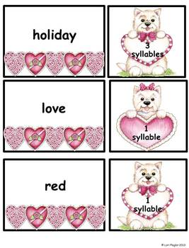 Valentine Syllable Sorts
