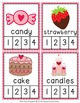 Valentine Syllables Count and  Clip Cards