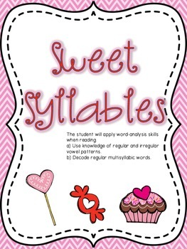 Valentine Syllables Language Arts Center