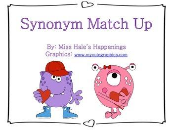 Valentine Synonym Match-Up