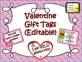 Valentine Tags (Editable)