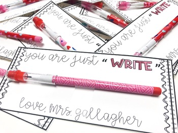 "You are just ""Write"" Valentine Tags"