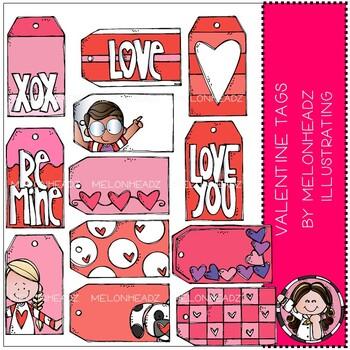 Valentine Tags clip art - by Melonheadz Clipart