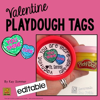 Valentine Tags for Playdough Tubs