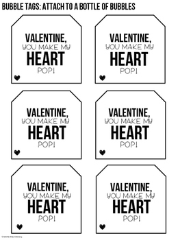 Valentine Tags for SLPs and Teachers