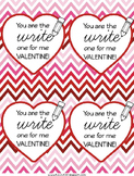 Valentine Tags for School Supplies {FREE}