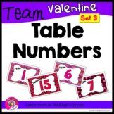 Valentine Team or Group Fold-able Table Numbers 1-15 (SET 3)