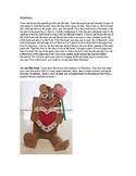 Valentine Teddy Bear with Heart Card
