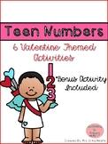 Valentine Teen Number Activities