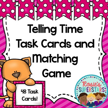 Valentine Telling Time to the 5 Minute Interval Task Cards