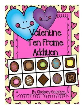 Valentine's Day Ten Frame Addition