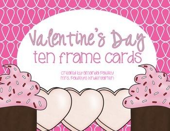 Valentine Ten Frame Cards {Freebie}