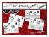Valentine Ten Frame Centers and Games (Ink Saving Center)