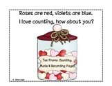 Valentine Ten Frame Counting Mats!