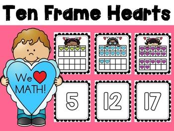 Valentine Ten Frame Hearts
