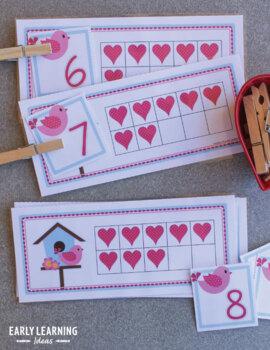 valentines day number activities for preschool pre k and kindergarten