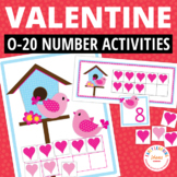 Valentine's Day Math Activity: Valentine Ten Frame Match