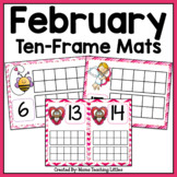 Valentine (February) Ten-Frame Mats Numbers 1-20