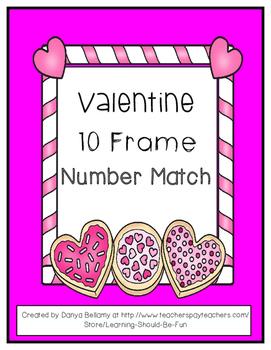 Valentine Ten Frame Number Match