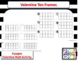 Valentine Ten Frame activities