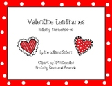 Valentine Ten Frames Working with Numbers 0-10