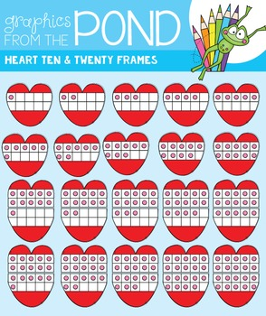 Valentine Ten and Twenty Frame Clipart
